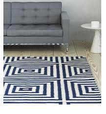 plantation frankie fra02 blue white rug