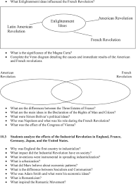 Compare American And French Revolution Venn Diagram Modern World History Study Guide Pdf