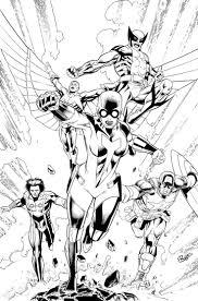 The Avengers Captain America Falcon Wolverine