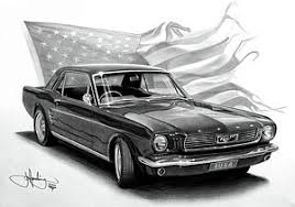 muscle cars drawings. Perfect Cars Muscle Car Drawing  1966 Mustang By John Harding With Cars Drawings S