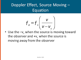 29 doppler effect source moving equation