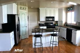painted black kitchen cabinets before and after. Breathtaking Painting Kitchen Cabinets Before And After Paint  White . Painted Black