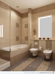 Beige Tiled Bathrooms Set