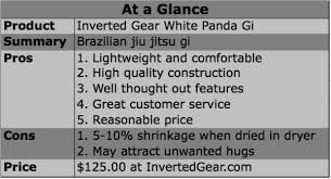 Inverted Gear Size Chart Product Review Inverted Gear White Panda Gi Breaking Muscle