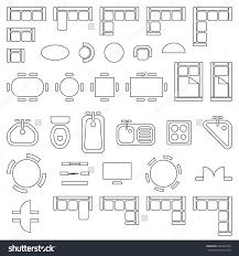 floor plan furniture symbols. Standard Office Furniture Symbols On Floor Plans Stock Vector . Floor Plan Furniture Symbols O