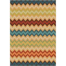 orian rugs prism break multi chevron bright colors 5 ft x 8 ft indoor