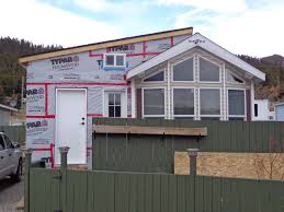 mobile home additions park model with addition being built