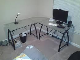 large glass office desk. L Shaped Glass Office Desk Large \u2013 Room Design Ideas : Ideasn45 S