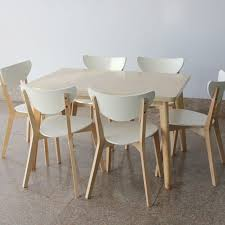 ikea style dining table and chairs rectangular tables wood laminate table and four chairs table chairs minimalist small apartmen in dining tables from
