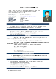 Resume Format For Technical Jobs Resume Format For Job Interview Ms Word Listmachinepro 86