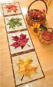 Pin by Coleen Dudley on Meli | Maple leaf table runner, Quilted ...