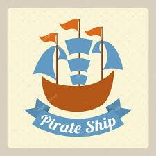 пиратский корабль тату пиратский корабль дизайн векторное