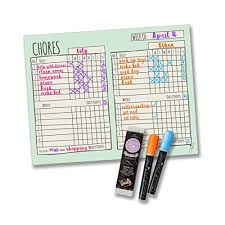 Wipe Off Chore Chart Daily Chore Chart Amazon Com