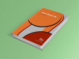 clean book cover mockup