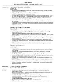 Ophthalmic Assistant Resume Sample Ophthalmic Technician Resume Samples Velvet Jobs 9