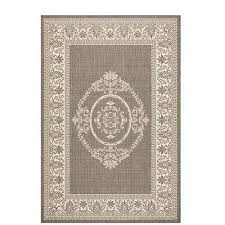 antique medallion grey champagne 4 ft x 5 ft indoor outdoor area
