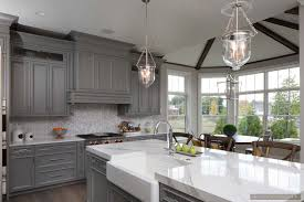 Inspiring Room Modern Nantucket Style Farmhouse Kitchen With Gray