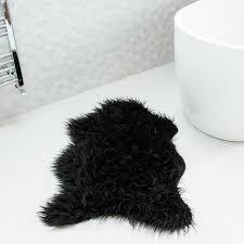 black sheepskin rug. Black Rugs Soft Shaggy Faux Sheepskin Rug
