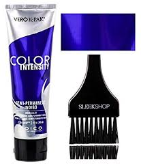 Joico Color Intensity Chart Joico Color Intensity Semi Permanent Creme Hair Color With Sleek Tint Brush Indigo