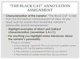 the black cat essay  compucenterco the black cat essay introduction essay topicsthe black cat annotation ignment characterization of narrator