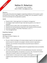 How To Put Teaching Assistant On Resume Educational Assistant Resume