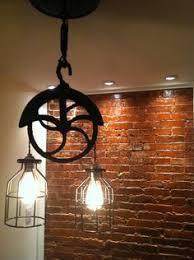 pulley pendant lighting. Re-purposed Barn Pulley Industrial Light Pendant Lighting H