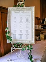 Wedding Of Michele And Lyndsay Seating Plan In Gold Frame