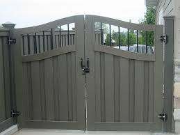 metal fence gate designs. A Trex Fence, With Double-wide Gate. (A Girl Can Dream Metal Fence Gate Designs