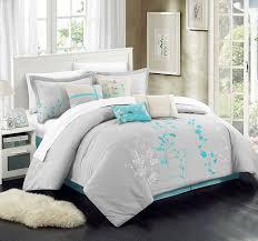 turquoise comforter set king. Perfect King Amazoncom Chic Home 8 Piece Bliss Garden Comforter Set Queen Turquoise  U0026 Kitchen To Turquoise Set King Amazoncom