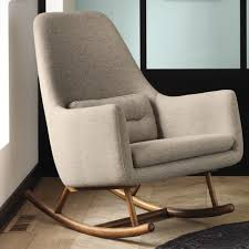 best upholstered rocking chair for nursery editeestrela design pertaining to fabric chairs living room furniture designs 5