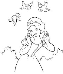 Disney Snow White Coloring Page Disney 白雪姫