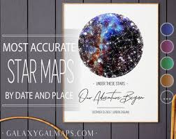 Etsy Star Chart Star Map Custom Poster Astrological Star Chart Romantic Gemini Gifts For Her Night Sky Poster Costellation Art Map Print New Baby Gift