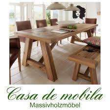 Esstisch Esszimmer Tisch 240x110 holz Wildeiche massiv geölt Firenze