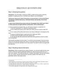 Dbq Essay Question One