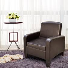 faux leather high back chairs. cloud mountain faux leather arm high back chair couch club armchair medium size, brown chairs