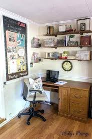 home office whiteboard. Carve Out A Space In Your Small Home Office Nook For An Easy Bulletin Board Rustic Whiteboard