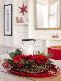 Stunning Christmas Table Decorations Ideas With Red Synthetic F Flower And  Pine Garland Decorative In Oval Ceramic Plate 1280x1707