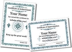 Certificate Of Appreciation Templates