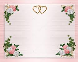 Roses Pink White Wedding Invitation Stock Photo Irisangel 2177311