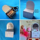 Шкаф для кукол из картона схема