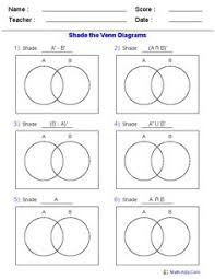 Venn Diagram Set Notation Worksheet 8 Best Sets In Math Images Sets Math Math Empty Set