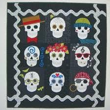 Day of the Dead Sugar Skulls Quilt Pattern CLS-112 (intermediate ... & Day of the Dead Sugar Skulls Quilt Pattern CLS-112 (intermediate, wall  hanging)- $9.50 | Quilts | Pinterest | Sugar skulls, Sugaring and Patterns Adamdwight.com