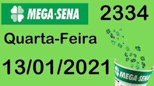 RESULTADO MEGA-SENA 13/01 - RESULTADO MEGA-SENA HOJE CONCURSO 2334 - YouTube
