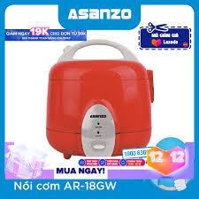 Nồi Cơm Điện Nắp Gài Màu Trắng- Đỏ 1.8 Lít 700W Asanzo RC18GW - Hàng Phân  Phối Chính Hãng: Mua bán trực tuyến Nồi cơm điện với giá rẻ
