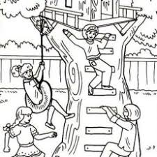 Excellent Inspiration Ideas Tree House Coloring Pages Kids N Fun Com