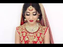 traditional asian bridal hair and makeup