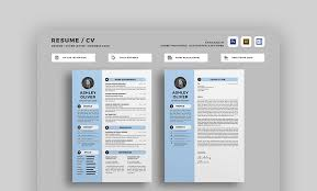 Best Resume Templates Gorgeous 40 Best Photoshop PSD Resume Templates With Photo Formats