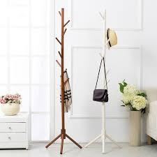 Hanger Style Coat Rack Wood Coat Rack 100X100X100CM Floor coat Hanger Bedroom Living Room 19