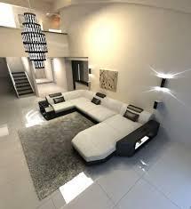 Wohnlandschaft Sofa Presto Stoff Als Moderne U Form Mit Ottomane