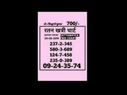 Ratan Khatri Chart Kalyan Ratan Khatri Chart 20 08 2019